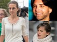 Seagrams heiress Clare Bronfman, left, and two of her co-defendants in the sex-trafficking prosecution, NXIVM founder Keithe Raniere (top R) and Allison Mack (bottom R). (AP Photo/Mary Altaffer/Keithraniere.com/AP Photo/Seth Wenig)
