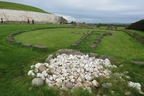 Pile of stones near circle of stones beside burial mound close to Newgrange monument. (Ian Robertson photo)