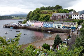 Portree, the largest town on the Isle of Skye, is nestled deep in its protective harbour. (Dominic Arizona Bonuccelli photo)