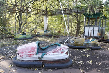 The amusement park in the once utopian town of Prypiat, in Ukraine, has been rusting away since the 1986 nuclear disaster at the Chornobyl power plant. (Chris Doucette/Toronto Sun/Postmedia Network)