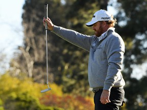 J.B. Holmes lines up a putt on the 16th hole during the final round of the Genesis Open at Riviera Country Club on February 17, 2019 in Pacific Palisades, California. (Harry How/Getty Images)