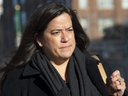 Liberal MP Jody Wilson-Raybould leaves the Parliament buildings following Question Period in Ottawa, Tuesday, Feb. 19, 2019.