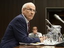 Clerk of the Privy Council Michael Wernick waits to appear before the Justice Committee meeting in Ottawa, Thursday February 21, 2019. (THE CANADIAN PRESS/Adrian Wyld)