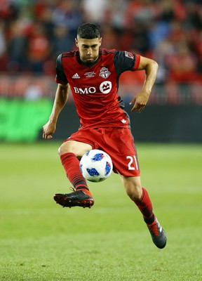 TFC's Jonathan Osorio had a breakout season in 2018, scoring 10 goals in MLS play and 17 in total, and was rewarded with a deal that team president Bill Manning says makes him one of the highest-paid Canadian players in the world.  (Getty images)