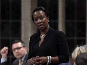 Liberal MP Celina Caesar-Chavannes is pictured during question period in the House of Commons on  May 25, 2018. (The Canadian Press)