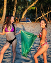 The Bikini Beach Cleanup group meet to pick-up trash on the beaches of Florida. INSTAGRAM