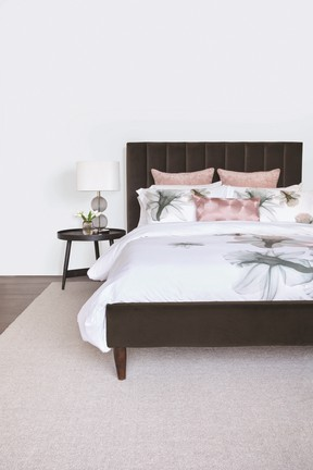 Floral bedding from Urban Barn is a perfect touch for spring.