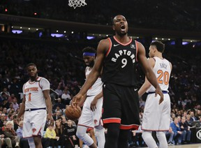 Raptors' Serge Ibaka should be well-rested heading into the playoffs after getting three games off for fighting with the Cavaliers' Marquese Chriss.  The Associated Press