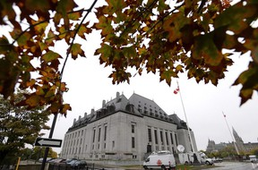 The Supreme Court of Canada is seen in Ottawa on October 11, 2018. THE CANADIAN PRESS/Justin Tang