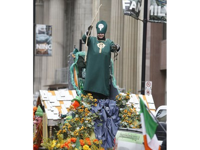 The 32nd annual St. Patrick's Day parade rolled, marched, danced, sang its way across Bloor St., down Yonge St. to the review stand on Queen St. W. in front of city hall on Sunday March 10, 2019. Jack Boland/Toronto Sun/Postmedia Network