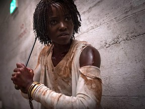 "Lupita Nyong'o in a scene from Jordan Peele's ""Us."""