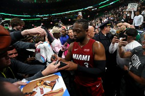 Miami Heat guard Dwyane Wade is retiring after his season ends. (GETTY IMAGES)