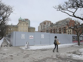 The location for the yet-to-be-built North St. Lawrence Market, at Front and Jarvis Sts., is pictured on March 6, 2019. (Veronica Henri, Toronto Sun)