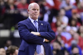 Orlando Magic head coach Steve Clifford watches as his team plays the Raptors on Tuesday night. (THE CANADIAN PRESS)