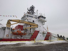 The CCGS Captain Molly Kool is presented to the media after undergoing refit and conversion work at the Davie shipyard, Friday, December 14, 2018 in Levis Que. Reduced search-and-rescue coverage, ferry-service disruptions, cancelled resupply runs to Arctic and coastal communities and nearly $2 million in lost navigational buoys. New documents obtained by