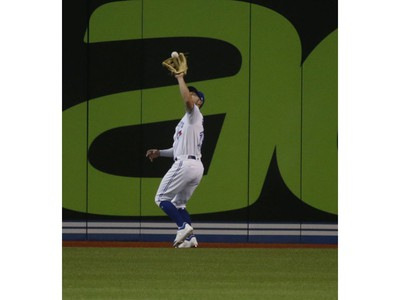 Toronto Blue Jays Randal Grichuk LF (15)makes an out in the first inning  in Toronto, Ont. on Friday April 26, 2019. Jack Boland/Toronto Sun/Postmedia Network
