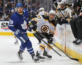 Game 6 of the Leafs-Bruins series goes at 3 p.m. Sunday at Scotiabank Arena. (Getty Images)