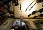 Prime Minister Justin Trudeau speaks with media before caucus on Parliament Hill in Ottawa, Wednesday, April 3, 2019. THE CANADIAN PRESS/Adrian Wyld