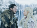 Dany and Jon find a waterfall for a romantic getaway. (HBO)