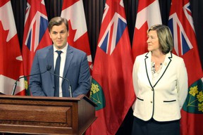 """Toronto Board of Health Chair Joe Cressy and former Ontario Liberal health minister Dr. Helena Jaczek criticize cuts to public health funding made by the Doug Ford government. Ten former provincial ministers of health, including Jaczek and former PC minister Dennis Timbrell, sent a joint open letter to Health Minister Christine Elliott on Thursday May 23 2019 urging her to """"stop the drastic cuts"""" to public health services."""