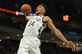Giannis Antetokounmpo and the Milwaukee Bucks have already advanced to the Eastern Conference final. GETTY IMAGES