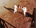 In this file photo taken on July 20, 1969 U.S. astronauts Neil Armstrong and