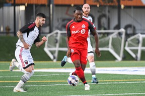 Toronto FC's Ayo Akinola (centre) is joining the American U-20 squad in Poland. (Submitted photo)
