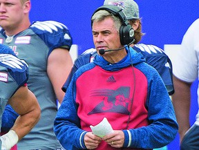 Jacques Chapdelaine, shown here as head coach of the Alouettes in 2016, is back in Toronto as offensive coordinator and quarterbacks coach. He was in charge of the Boatmen's special teams and receivers back in 1992. THE CANADIAN PRESS/FILE