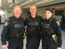(left to right) Halton Regional Police officers Staff-Sgt. Chris Lawson, Const. Chris Peters and Const. Amanda Allsop