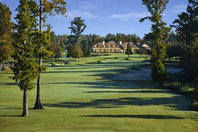TPC Louisiana, home to a big ole gator named Tripod that makes his home on hole No. 3 (Supplied)