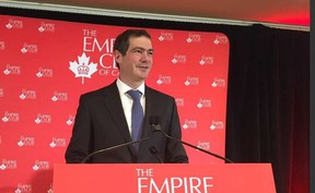 Peter Luongo, managing director of Rothmans, Benson & Hedges Inc. (RBH), launched the week-long Unsmoke Canada campaign at an Empire Club of Canada luncheon. (Jane Stevenson, Toronto Sun)
