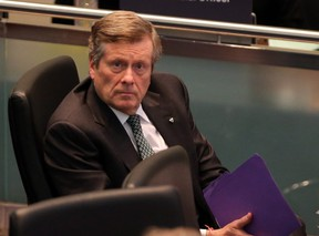 Mayor John Tory during a City Council Meeting in Toronto, Ont. on Wednesday March 27, 2019.