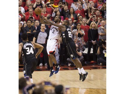 The Toronto Raptors clinch Game 6 winning the Eastern Conference Championship Trophy beating the Milwaukee Bucks,  in Toronto, Ont. on Sunday May 26, 2019. Stan Behal/Toronto Sun/Postmedia Network