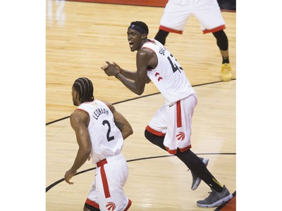 The last seconds of action as  the Toronto Raptors beat the Golden State Warriors in Game 1 of the NBA Finals in Toronto. on Friday May 31, 2019. Stan Behal/Toronto Sun/Postmedia Network