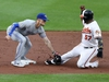 BALTIMORE, MARYLAND - JUNE 12: Cavan Biggio #8 of the Toronto Blue Jays tags out Hanser Alberto #57 of the Baltimore Orioles at second base in the second inning at Oriole Park at Camden Yards on June 12, 2019 in Baltimore, Maryland. (Photo by Rob Carr/Getty Images)