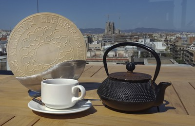 Tea and an oversize dessert cookie on the La Dolce Vitae rooftop terrace at the Majestic Hotel & Spa Barcelona, in Spain on Sunday June 9, 2019. Veronica Henri/Toronto Sun/Postmedia Network