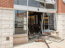 Crooks drove a stolen truck through the front doors of a jewelry store near Torbram Rd. and North Park Dr. during a heist on May 8, 2019. (Peel Regional Police handout)