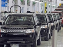 Land Rover Freelander II SUV vehicles are seen on the assembly line at the Jaguar - Land Rover manufacturing plant in Pimpri, at the western Indian state of Maharashtra, on May 27, 2011.  (INDRANIL MUKHERJEE/AFP/Getty Images)