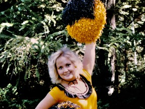 Sharon Caddy as a member of the 1995 Hamilton Ticats cheerleading team. (Submitted Photo)