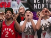 Jurassic Park comes alive Sunday night as Raptor fans cheer on their team in Game 3 against the Milwaukee Bucks in Toronto, Ont. on Sunday May, 19, 2019. Stan Behal/Toronto Sun/Postmedia Network
