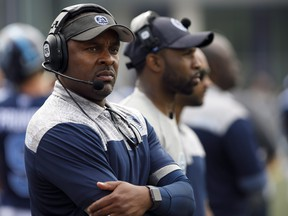 Corey Chamblin figures changes of some kind will be coming for the Argos unless they can show any progress in their next home game against Winnipeg.                                                       Cole Burston/CP