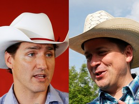 Justin Trudeau and Andrew Scheer Reuters photos