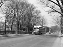 Looking north on Avenue Rd. towards St. Clair Ave. W., 1954. This photo was taken by historian Ray Corley just a few weeks before the TTC's BAY route (from a loop at Lansdowne and St. Clair via Avenue Rd., Davenport Rd. and Bay St. to the Island ferry docks) was abandoned with the opening of the Front to Eglinton section of the new YONGE subway on March 30, 1954. As a result of that momentous event streetcars, such as the three-year-old PCC 4501 in this photo (and Peter Witts and trailers before the PCCs), no longer had to negotiate this precarious hill. (From the John D. Thompson Collection).