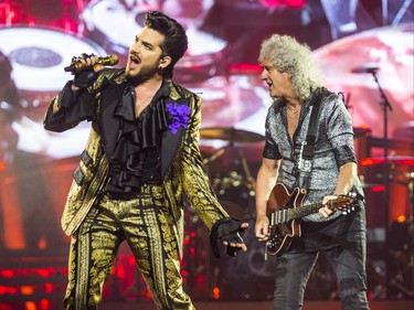 Queen + Adam Lambert perform at the Scotiabank Arena in Toronto, Ont. on Sunday July 28, 2019. On guitar is Brian May, and on vocals is Adam Lambert. Ernest Doroszuk/Toronto Sun/Postmedia