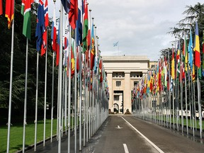 The UN's Palace of Nations in Geneva, Switzerland.
