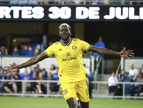 Forward Gyasi Zardes leads the Columbus Crew in goals this season with nine.  The Crew plays Toronto FC on Saturday at Mapfre Stadium. Kelley L Cox-USA TODAY Sports