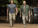 Dwayne Johnson (L) and Jason Statham in