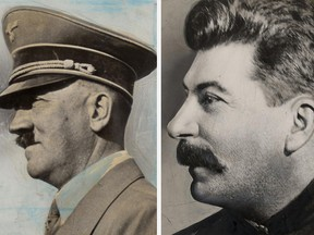 Undated photos of Hitler and Stalin. (ABC News)