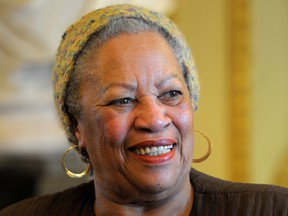 U.S. author Toni Morrison poses after being awarded the Officer de la Legion d'Honneur, the Legion of Honour, France's highest award, during a ceremony at the Culture Ministry in Paris, France Nov. 3, 2010.