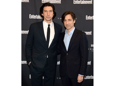 Adam Driver (L) and Noah Baumbach attend Entertainment Weekly's Must List Party at the Toronto International Film Festival 2019 at the Thompson Hotel  on Sept. 7, 2019 in Toronto.